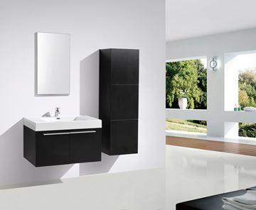 Picture of BLACK Avella bathroom  cabinet / vanity 900 mm length, 2 doors, ref KC900DB.