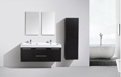 Picture of Novelli BLACK  Double Bathroom Cabinet / Vanity with 2 doors and 2 drawers, Ref KC138B