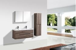 Picture of Venice Trendy double bathroom cabinet SET 1200 mm L, rounded corners, 2 drawers, Silver Oak