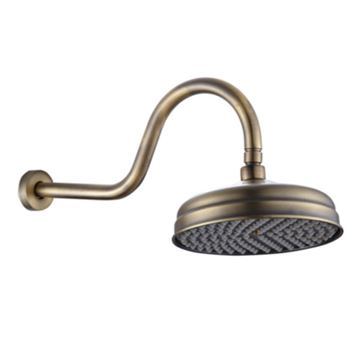 Picture of Bijiou Victorian style BRONZE finish shower rose including arm
