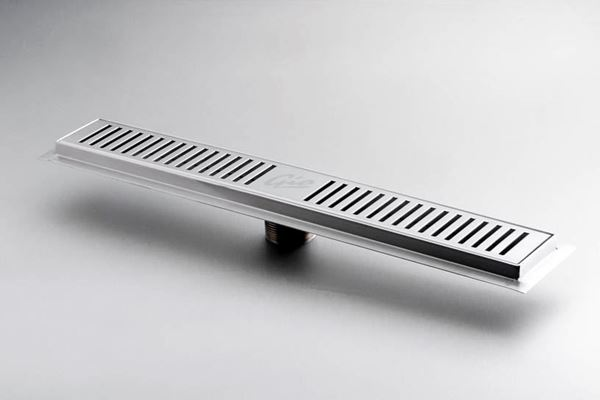 Picture of 500 mm long Stainless Steel shower channel with perforated grid