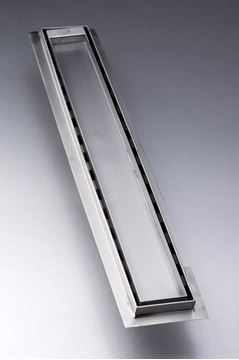 Picture of 860 mm long Stainless Steel shower channel with solid grid