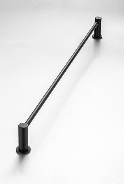 Picture of Black Demola Single Towel rail 760 mm