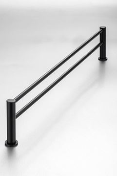 Picture of Black Demola Double Towel Rail 760 mm