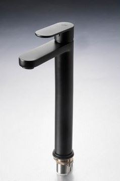 Picture of Black Genova oval handle TALL BASIN mixer
