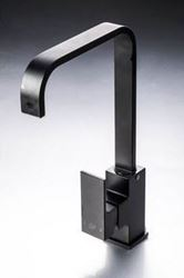 Picture of Black Malta square KITCHEN mixer L shape