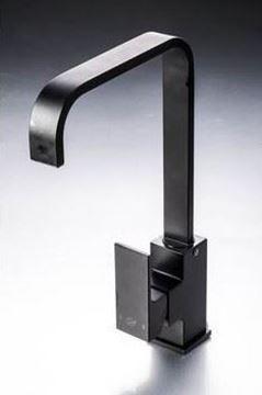 Picture of Black Malta square KITCHEN mixer L shape