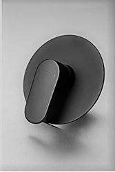 Picture of Black Genova oval handle Concealed SHOWER and BATH mixer