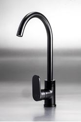 Picture of Black Genova oval handle KITCHEN mixer