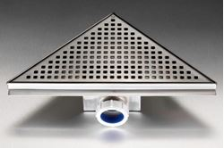 Picture of Triangular shower trap 285 x 285 x 404 mm