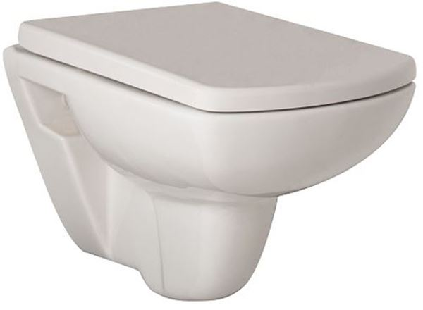 Picture of Gural Vit Quadro wall hung toilet set
