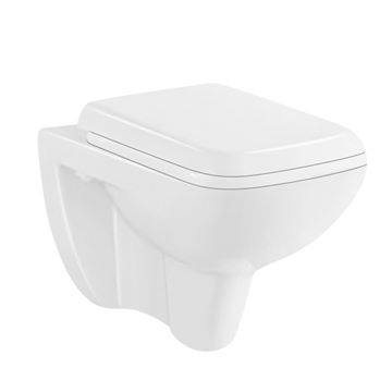 Picture of Bermuda wall hung toilet with toilet seat