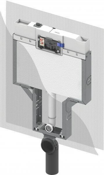 Picture of TECE Concealed cistern Single Brick wall construction