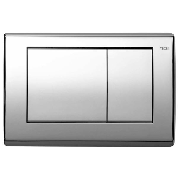 Picture of TECE Planus bright chrome stainless steel push plate for concealed cistern