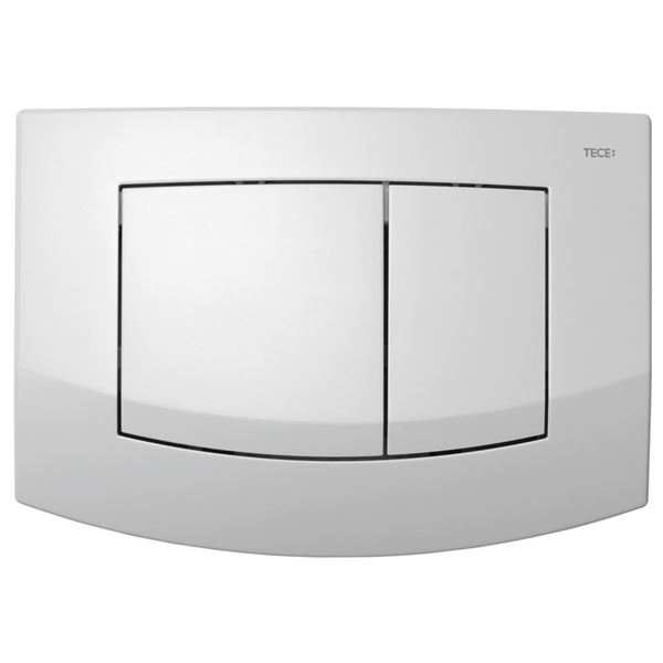 Picture of TECE Ambia push plate white for concealed cistern