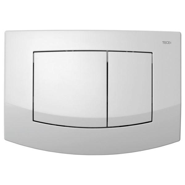 Picture of Tece Ambia push plate for dual flush concealed cistern, bright chrome