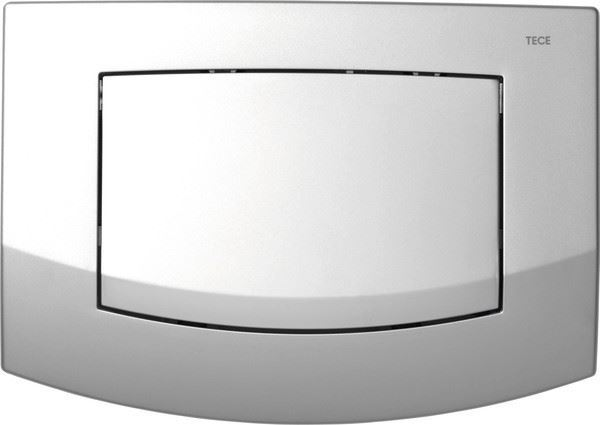 Picture of TECE Ambia matte chrome push plate for concealed cistern