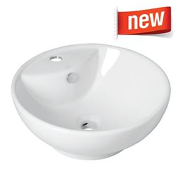 Picture of Round over the counter vitreous china basin 420 mm