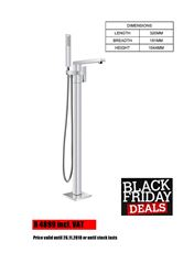 Picture of Black Friday SALE-Bijiou TANZANITE Freestanding bath mixer square style, heavy brass, 12 years guarantee