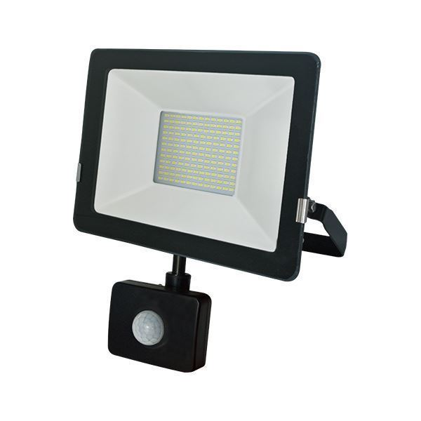 Picture of 50W LED Floodlight with PIR sensor, 3850 Lm, IP65, 3 years GUARANTEE in SALE