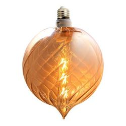 Picture of  Decorative Amber Glass Globe 320 mm x 180 mm with 6W LED filament Bulb, 450 Lm in SALE