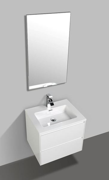 Picture of Enzo White bathroom cabinet SET 600 mm L with 2 soft closing drawers
