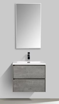 Picture of Enzo bathroom cabinet SET 600 mm L Concrete finish with 2 soft closing drawers