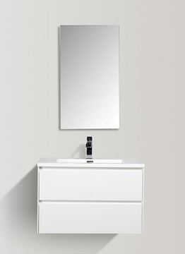 Picture of Enzo White bathroom cabinet SET 800 mm L with 2 soft closing drawers
