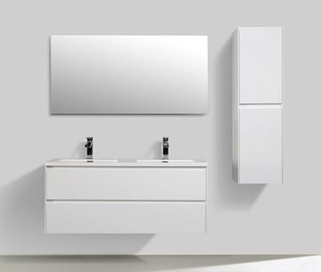 Picture of Enzo White Double bathroom cabinet SET 1200 mm L with 2 soft closing drawers