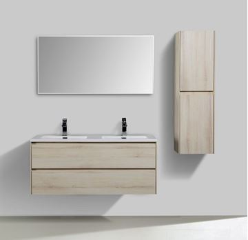 Picture of Enzo Sahara Double bathroom cabinet 1200 mm L with 2 soft closing drawers