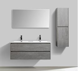 Picture of Enzo Concrete Double bathroom cabinet SET 1200 mm L with 2 soft closing drawers