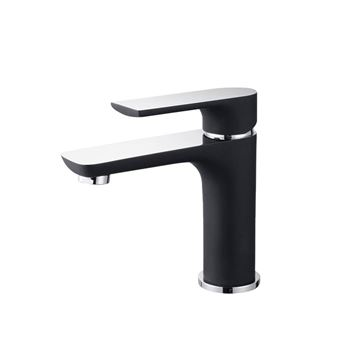 Picture of  Bijiou Geneva BLACK matte & Chrome BASIN mixer