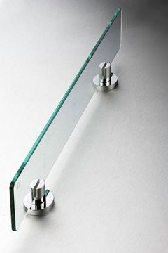 Picture of Torino GLASS Shelf, Chrome plated Brass