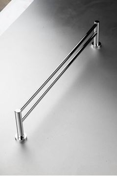 Picture of Torino 900 mm L Double Towel RAIL, Brass Chrome plated