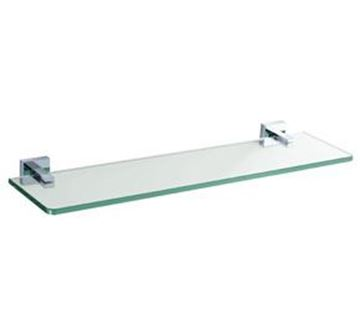 Picture of Verona GLASS Shelf, Brass and Glass