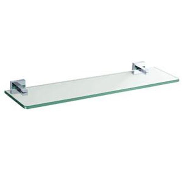 Picture of Verona GLASS Shelf, Brass and Glass