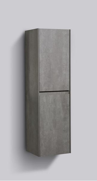 Picture of Enzo CONCRETE Side cabinet, 2 doors  1200 H x 350 L x 300 D DELIVERED to CAPE TOWN
