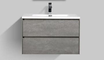 Picture of Enzo CONCRETE bathroom cabinet SET 800 mm L with 2 drawers DELIVERED to CAPE TOWN