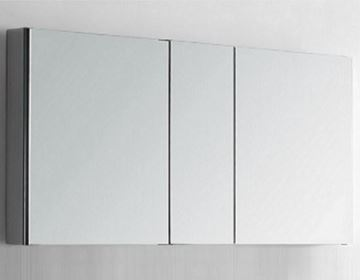 Picture of 1250 mm L Mirror Bathroom cabinet / Medicine cabinet with 3 soft closing doors and 2 shelves DELIVERED to CAPE TOWN