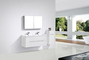 Picture of Venice Trendy WHITE double bathroom cabinet SET 1200 mm L, rounded corners, 2 drawers