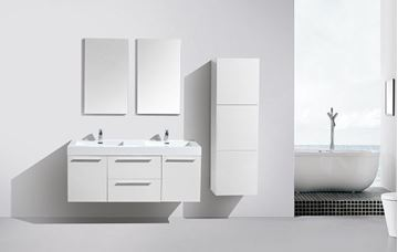 Picture of Novelli  WHITE Double Bathroom Cabinet  with 2 doors and 2 drawers, DELIVERED to CAPE TOWN