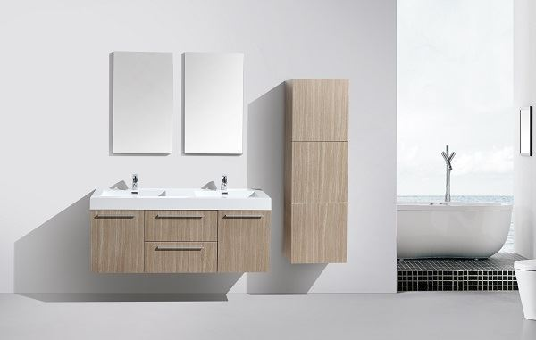 Picture of Novelli OAK Double Bathroom Cabinet  with 2 doors and 2 drawers, DELIVERED to CAPE TOWN