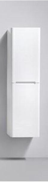 Picture of Venice WHITE Side Cabinet, 2 doors, 1500 H x 400 L x 300 D. DELIVERED to CAPE TOWN