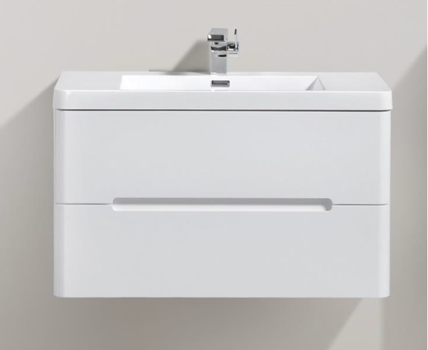 Picture of Trendy WHITE bathroom cabinet 900 mm L, 2 drawers, DELIVERED to CAPE TOWN