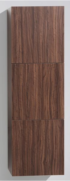 Picture of SALE WALNUT TALL Side Cabinet with 3 soft closing doors, 1500 H x 450 L x 300 D, DELIVERED to CAPE TOWN
