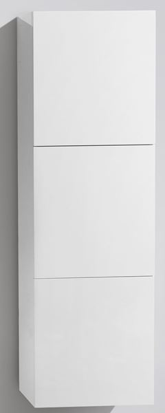 Picture of WHITE TALL Side Cabinet with 3 soft closing doors, 1500 H x 450 L x 300 D. DELIVERED to CAPE TOWN