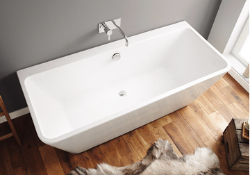 Picture of CUBA Freestanding BACK TO WALL Seamless Acrylic bath, 1700 x 750 X 580 mm H, DELIVERED to CAPE TOWN