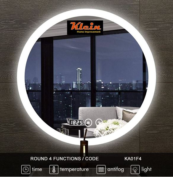Picture of Round LED Bathroom Mirror 600 mm diameter with 4 Functions Ref KA01F4