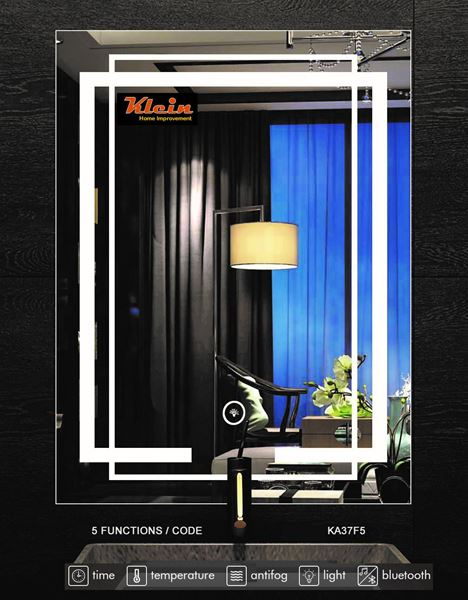 Picture of LED Bathroom Mirror 600 x 800 mm H with Bluetooth speaker Ref KA37F5