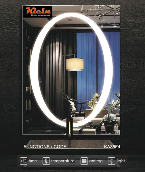 Picture of LED Bathroom LED Mirror with 4 Functions, ref KA35F4